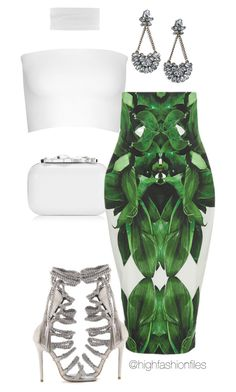 """""""Tropics"""" by highfashionfiles on Polyvore featuring Calvin Klein Collection, Jimmy Choo, Monika Chiang and LULUS"""