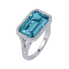 Angara Sugarloaf Cut Swiss Blue Topaz Solitaire Ring kFtYUN