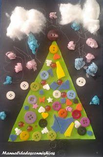 Manualidades con mis hijas. Christmas tree. Creatividad. creativity