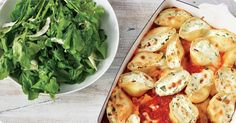Spinach Ricotta Stuffed Shells