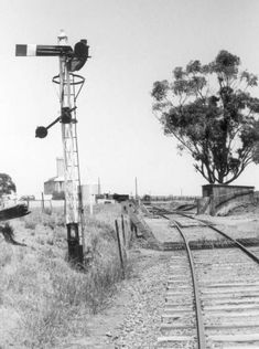 The NSWGR approach to Oaklands. Line closed from Boree Creek. Hills And Valleys, Victoria Australia, Landscape Photographers, Train Station, Abandoned Places, Photographs, Victorian, Vintage, Train