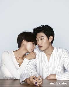 Hwang Jung-eum & Ryu Jun-yeol // Marie Claire Korea