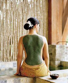 Bamboo spa treatments.