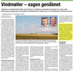 Mens verden udtrykt ved det positive resultat ved COP21 i Paris erkender alvoren i klima forandringer, går det den nærmest den modsatte vej i Randers Byråd. Jeg fastholder, at vi i Randers bør yde hvad vi kan og at vi mht. vindmøller skal følge de regler for afstand, støj og skygge, der gælder på national plan.