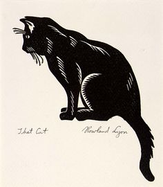 That Cat, ca. 1930-1945, Rowland Lyon, linoleum cut, 9 x 7 1/2 in. (22.9 x 19.1 cm), Smithsonian American Art Museum, Gift of the artist, 1966.14.2