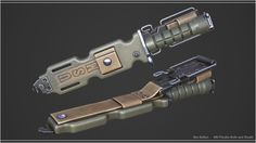 ArtStation - M9 Phrobis Knife + Sheath, Ben Bolton