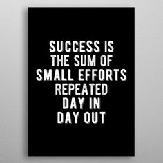 Sum of Small Efforts Quote Text Art Poster Print Inspirational Team Quotes, Motivational Quotes For Job, Work Quotes, Success Quotes, Leadership Quotes, Attitude Quotes, Wisdom Quotes, Team Motivation, Fitness Motivation Quotes