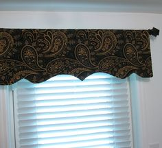 Valance Window Treatments in kitchen