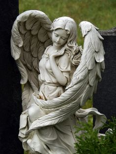 Beautiful Angel ~ One of the many tombstones in the Slavin cemetery of Prague, Czech republic