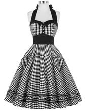 Estilo do verão as mulheres se vestem 2016 Plus Size Vestidos de Audrey Hepburn xadrez robe 50's 60 s Rockabilly Pin up Balanço Do Vintage Vestidos vestido(China (Mainland))