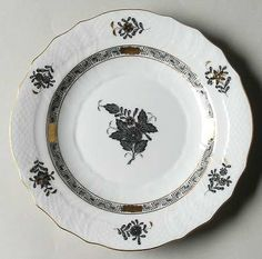 Herend Black Chinese Bouquet China