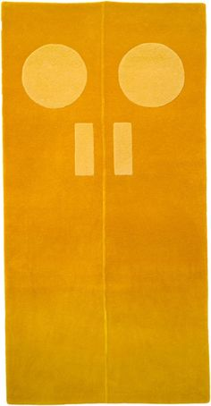 Gary Hume Rug (Door Yellow) Gary Hume, Home Interior Design, Weaving, Symbols, Letters, Doors, Rugs, Artists