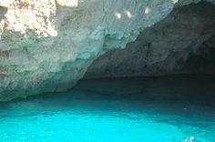 Paxos, water cave, swimming there 5.7.2013