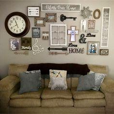 Gallery wall ideas and DIY accent wall design ideas #gallerywallideas #decoratingideas #livingroomideas #diyhomedecor #homedecorideas