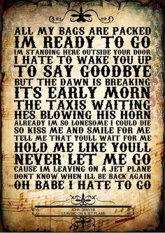 John Denver 02 POP Folk Music Typography Lyrics Word ART Poster Print Gift A4 | eBay