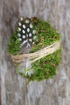 Make Easter decorations: DIY for moss easter eggs - Table decoration Easter ideas - Oster Dekor, Spring Decoration, Diy Osterschmuck, Making Easter Eggs, Fall Arts And Crafts, Pot Pourri, Easter Table Decorations, Crafts For Seniors, Nature Crafts