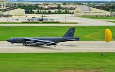 MINOT AIR FORCE BASE N.D. – A B-52H Stratofortress takes off as part of a rapid launch during an annual exercise here June 11. As a finale for the exercise, several B-52s took off in rapid succession, signaling the end of the training mission. The exercise provides training opportunities for forces to deter, and if necessary defeat, a military attack against the United States. The rapid launch included 17 B-52s from both Minot AFB and Barksdale AFB(U.S. Air Force photo/Senior Airman Jesse…