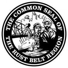 This is the 1st ever Common Seal of the Rust Belt, courtesy of Saving Cities at savingcities.com