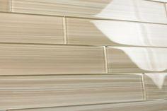 Cupatea 2x12 Glass Subway Tile for Kitchen Backsplash or Bathroom from Bodesi- beige and tan color swirled