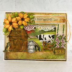 Heartfelt Creations - Farm Sweet Farm Card Making Tutorials, Painted Leaves, Heartfelt Creations, Flower Shape, Greeting Cards Handmade, Paper Design, Altered Art, Special Day