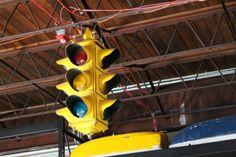 Classic traffic light.