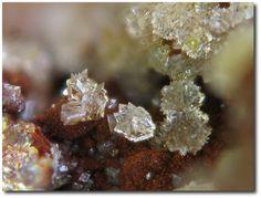Leucophosphite, KFe+++2(PO4)2(OH)•2(H2O), La Commanderie mine, Le Temple, Deux-Sèvres, Poitou-Charentes, France. Fov 2.5 mm. Photo Jean-Marc Johannet