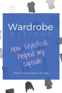 What's Actually In My Capsule? How Stylebook Helped My Capsule - via The Pretty Simple Life