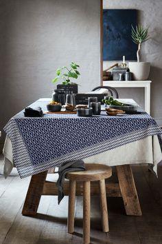 Koptatott len asztalterítő - Fehér - HOME | H&M HU 1