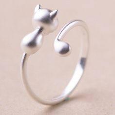 Stunning Kitten Shape Cuff Ring For Women