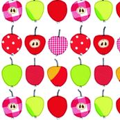 Sweet and Sour Apples fabric by Syko