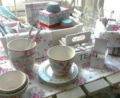 New Green Gate Latte Cups, Bread Baskets, Tea Towels, Napkins ...
