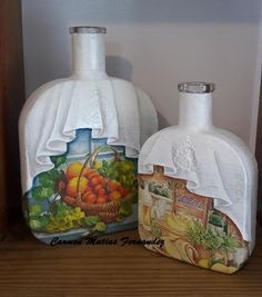 how to fabric decoupage wine bottle - חיפוש Google