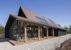 Longhouse – Boon Architecten Residential Architecture, Modern Architecture, Long House, Modern Barn, Prefab Homes, Detached House, Future House, Beautiful Homes, Building A House