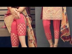 Very creative and beautiful plazo pant bottom design /trouser bottom design Salwar Neck Designs, Churidar Designs, Blouse Designs, Dress Designs, Plazzo Pants, Salwar Pants, Harem Pants, Kurti Sleeves Design, Sleeves Designs For Dresses