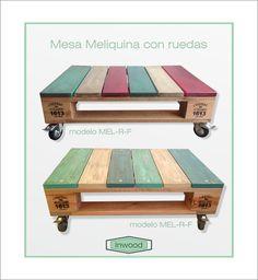 Mesa Ratona Living Estar Tipo Pallet Diseño Vintage - $ 1.750,00 en…