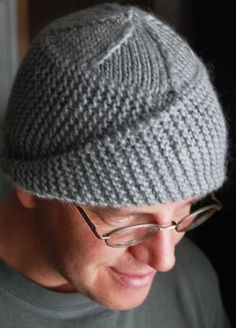 Quincy Hat. Link to Ravelry. Love the asymmetrical pattern. Looks like a real quick knit, great for gifting.