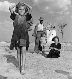 Poverty in Spain during Franco's dictatorship. Hot Spain, Castille, 1953 (14 years after the end of spanish civil war)// Jean-Philippe Charbonnier
