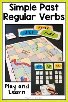 t, d, or id ? Revising or learning how to pronounce regular verbs is pretty easy with this game ! Engaging activity: yes, grammar can be fun too !