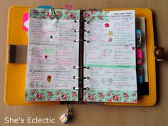 She's Eclectic: My week in my filofax #38