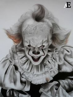 IT . Pennywise Film, Pennywise The Dancing Clown, Cool Art Drawings, Art Drawings Sketches, Film 2017, Horror Movie Characters, Horror Movies, Creepy Clown Makeup, Circus Photography