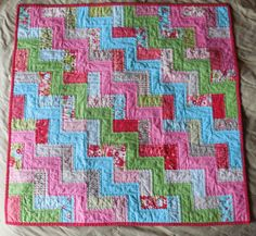 Chevron Baby Girl Quilt  Ruby by mandbrid on Etsy, $149.95