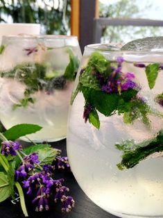 Lavender Mint Mojito - recipe on www.jillianharris.com