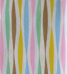 Vintage Gift Wrap Wrapping Paper 1950s Pastel Streamer Pattern