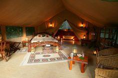 Il Moran Safari Camp Bedroom in Masai Mara on your kenya  camping safaris.www.stepsadventures.com