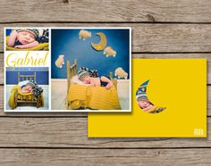 Baby Boy Birth Announcement - flat cards