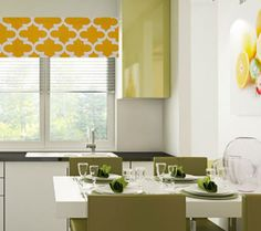 Quatrefoil  Window Valance  Corn Yellow Curtain  by OldStation