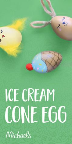 Learn how to make this ice cream cone egg and more!