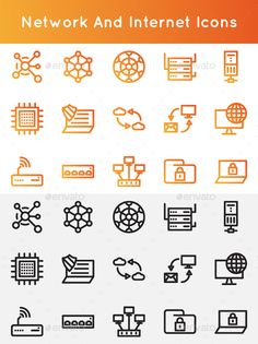 Network and Internet Icons - Envato Market Data Icon, Internet Icon, Best Icons, Vector Shapes, Pictogram, Icon Set, Icon Design, Graphic Design, Wordpress Plugins