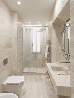 K House by Pierattelli Architetture Modern Small Bathrooms, Modern Bathroom Decor, Bathroom Styling, Bathroom Design Luxury, Modern Bathroom Design, Large Tile Bathroom, Bathroom Renovation Cost, Design Apartment, Toilet Design