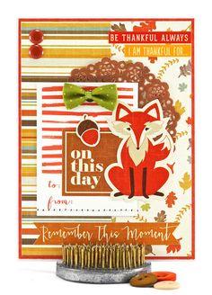 Fox Thanksgiving Card by #thecardkiosk #foxthanksgivingcard #woodlandanimalfallcard #fallcard #thanksgivinggreetingcard #bethankfulcard #handmadecard #fallgreetingcard #fallitems #etsyshop #etsystore #etsyseller #etsy #forsale #shopsmall #shophandmade